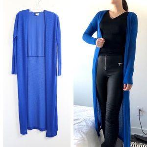 Vero Moda indigo electric blue duster long cardiga